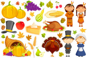 ThanksgivingCharacters 300x200 - Thanksgiving Holiday Hours